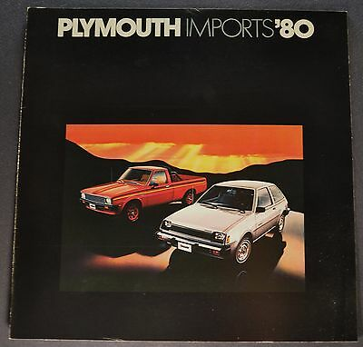 1980 Plymouth Champ Arrow, Fire & Pickup, Sapporo Brochure Excellent Original 80