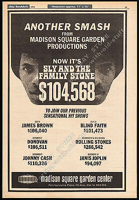 SLY AND THE FAMILY STONE__Orig. 1970 Trade AD promo_poster_MADISON SQUARE GARDEN