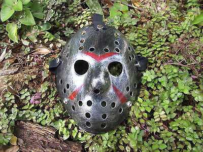 Halloween - Friday the 13th Jason Voorhees Mask - Silver with black weathering