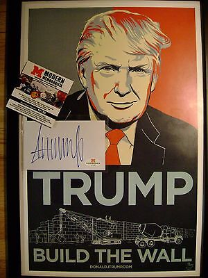 Donald Trump Signed Index , Print Signed, COA  Authentic Autograph Will Pass PSA