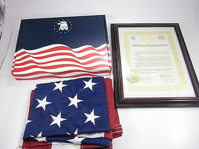 Uss Arizona Memorial Flag Flown Over In 1984 New In Box With Certificate