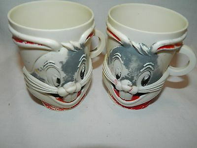 Pair Of 1960'S? Bugs Bunny Warner Bros. Pictures F&f Mold & Die Works Mugs/cups