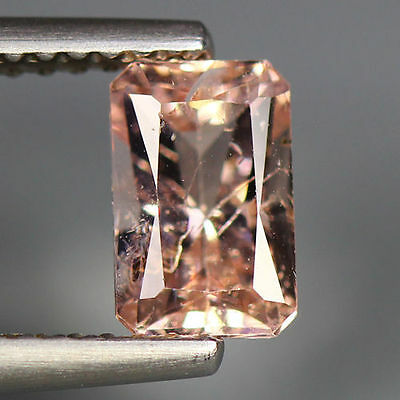 1.13 Cts_Simmering Ultra Nice Color_100 % Natural Peach Pink Morganite_Brazil