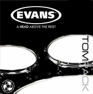 "Evans EC2 Clear Fusion 10,12,14 Tom Drum Head Pack *FREE 14"" REVERSE DOT SNARE"