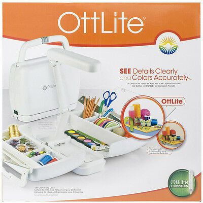 OttLite Craft Carrying Case W/Lamp White KCY008