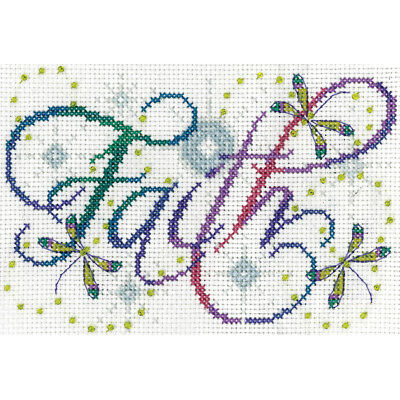 """Faith Counted Cross Stitch Kit 5""""X7"""" 14 Count DW2874"""