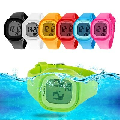 Men Women LED Silicone Square Digital Watch Sport Waterproof Bracelet Wristwatch