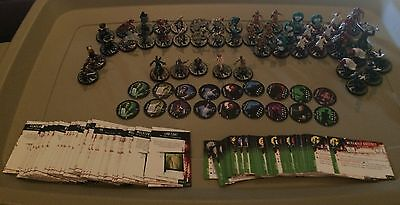 Horrorclix The Lab Lot of 46 Miniatures w/card, 44 Plot Twist Cards & 18 Tokens