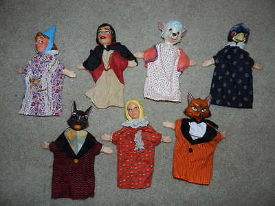 Vintage Hand Puppet Lot Little Red Riding Hood & More
