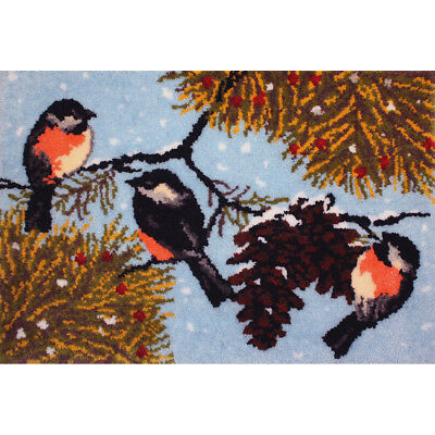 "Latch Hook Kit 40""X27"" Winter Birds 37814"