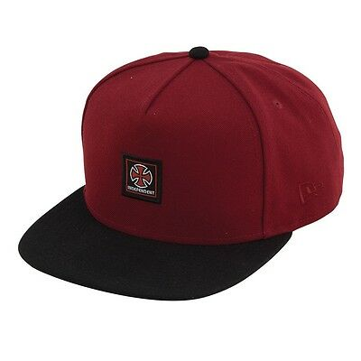 Independent Trucks CLASSIC LABEL New Era Snapback Hat MAROON/BLACK