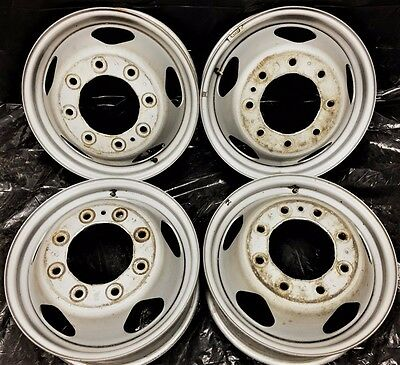 17 Chevrolet Gmc Wheels Rims Silverado Sierra 3500 Oem Steel Dually Factory