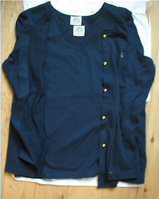 Official ADULT Girl Scout 2-Piece Sweater Set NAVY BLUE Convention EUC Size Med.