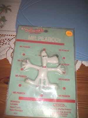 vintage bullwinkle bendems 1985- mr. peabody
