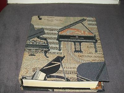 Tapestry Covered Telephone Book/directory Cover - Grand Pianos