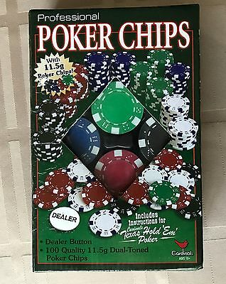 100 Dual Toned Cardinal Professional Poker Chips - NEW | Free Shipping