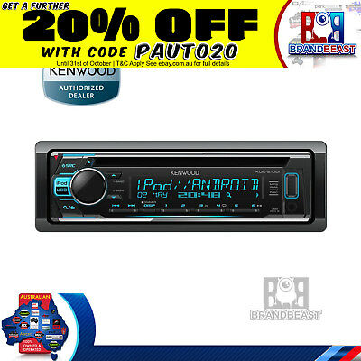 Kenwood Kdc-210ui Single Din Cd Usb Aux Unit With Ipod Android Control Unit