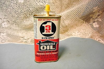 Vintage 3 in 1 Household Oil Can 3 Fl oz.  USA