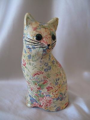 Decoupage Model Of A Whimsical Cat