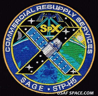 NEW SPACEX SPX-10 X CRS-10 NASA COMMERCIAL ISS RESUPPLY ORIGINAL AB Emblem PATCH