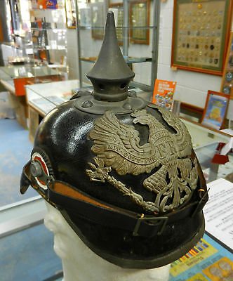 WW1 Pickelhaube Prussian German E/M'S Original