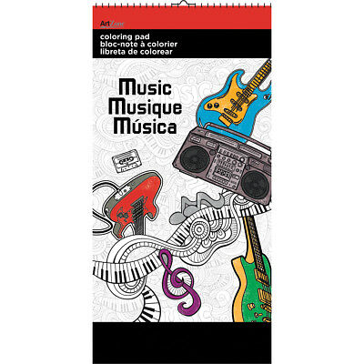 "Trends Mini Coloring Pad 6""X12"" Music AZ90-4"