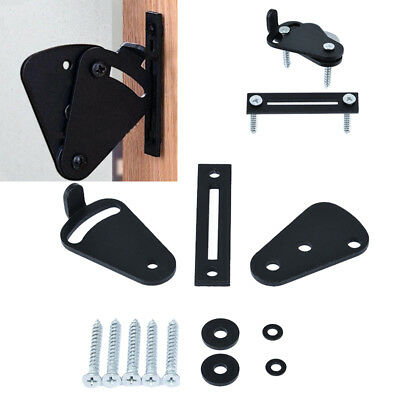 Painted Surface Pull Door Black Solid Cast Cron Sliding Barn Gate Lock Latch