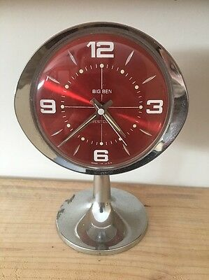 *Vintage Westclox Big Ben Pedestal Art Deco Windup Alarm Clock*