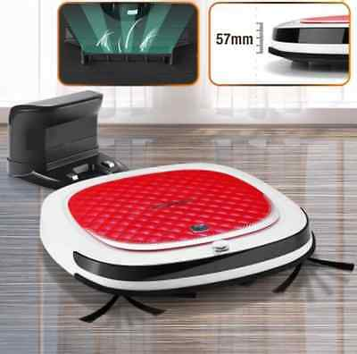 Automatic Recharge Bagless Robotic Vacuum Cleaner Floor Sweeper Robot Only 57mm