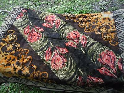 Antique Victorian CHASE Crocus Horse hair Buggy BLANKET Carriage Lap Robe Heavy