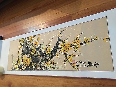 Exquisite  Antique / Vintage Chinese Scroll Painting  Signed With Red Seal 144cm