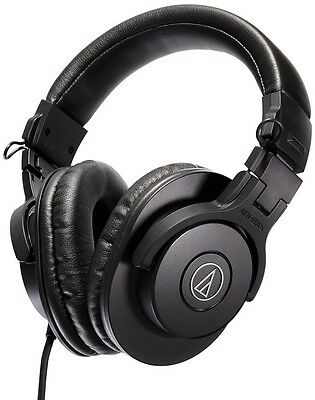 New Audio-Technica ATH-M30x Professional Monitoring Headphones (B) With Tracking
