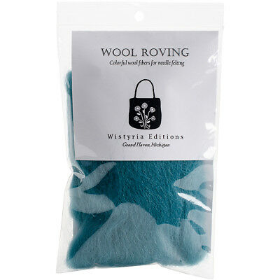 "Wool Roving 12"" .22oz Aqua R-8117R"