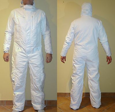 New Unique White One Piece Ski Suit Onesie Size Large-Xl (See Measurements)