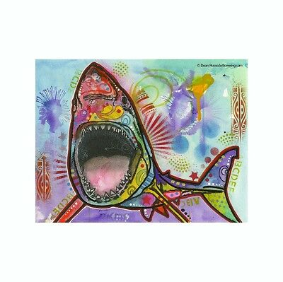 Great White Shark Dean Russo Vinyl Dog Car Decal Sticker