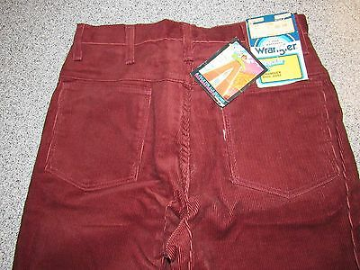 Nwt Vintage Mens Wrangler Regular Fit Corduroy Boot Jeans Size 29 Made In Usa