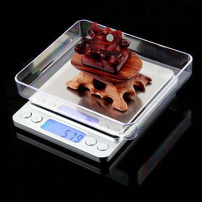 Pocket Mini Digital LCD Display Gold Jewellery Weighing Scales 2kg UK STOCK