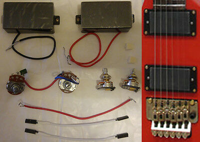 Brand new guitar EMG style passive humbucker pick-up set, with all electronics.