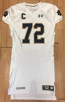 2014 #72 Notre Dame Football Team Issued Under Armour Home Jersey Nick Martin