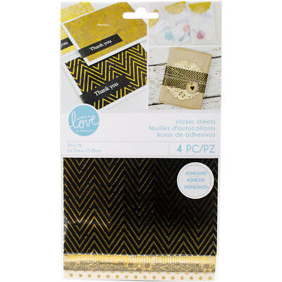 "Momenta Sticker Paper Sheets 5""X9"" Gold Foil Fabric & Paper STKMO4-26724"