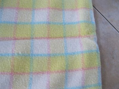 Vintage Quiltex? Baby Blanket Yellow Pink White 48X35 Ex Cond.