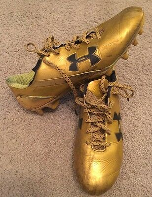 2015 Fiesta Bowl Used Team Issued Notre Dame Football Under Armour Cleats