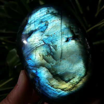 TOP!!213g Natural Labradorite Crystal Rough Polished From Madagascar B781