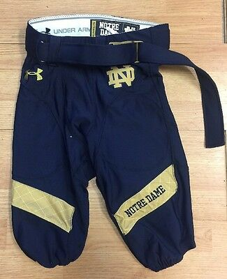 2014 Game Used/team Issued #15 Notre Dame Football Indy Shamrock Series Pants