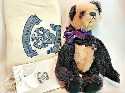 "Knickerbocker 75th Year Anniversary Panda w/ Bell 12"" Jointed Teddy Bear MIP"