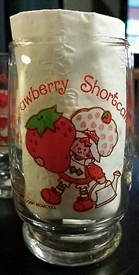 SET OF 5! Strawberry Shortcake Drinking JUICE GLASSES 6 ounce cup Vintage 1980's