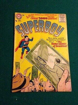 2 10c Superboy Silver Age comics spanking cover  Krypto  Jimmy Olsen  solid