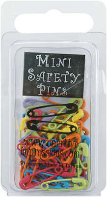 """Mini Painted Safety Pins .75"""" 50/Pkg Tropical CI84562"""