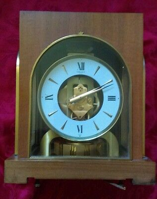 vintage Gruen GUILD cosmos corp CLOCK perpetual motion wood CASE swiss