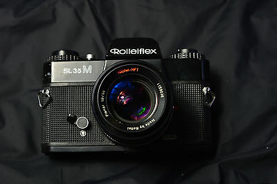Rolleiflex SL35M 35mm SLR Film Camera with Rollei HFT 50mm f1.8 lens
